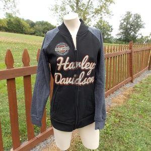 Harley Davidson Sweatshirt Jacket Size Medium